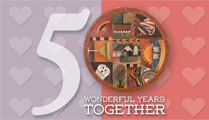 50 Years Together – A Custom Sticks Lazy Susan