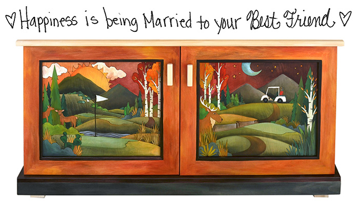 Happiness is Being Married to Your Best Friend – A Custom Sticks Buffet