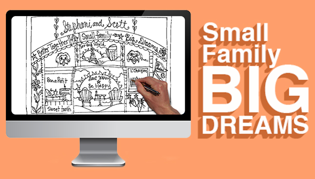 Small Family, Big Dreams – A Sticks Family Plaque