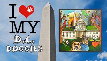 DC Doggies – A custom Sticks Plaque