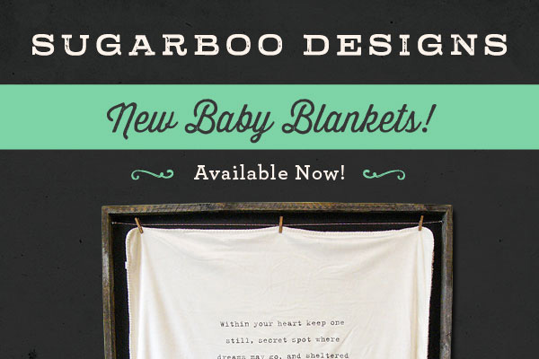 SugarBoo Designs Baby Blankets Now Available!