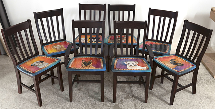 Sticks Furniture Personalized Pet Lovers Dining Set