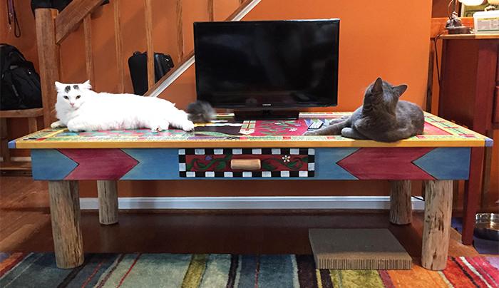 Sticks Custom Cats vs. Dogs Game Table